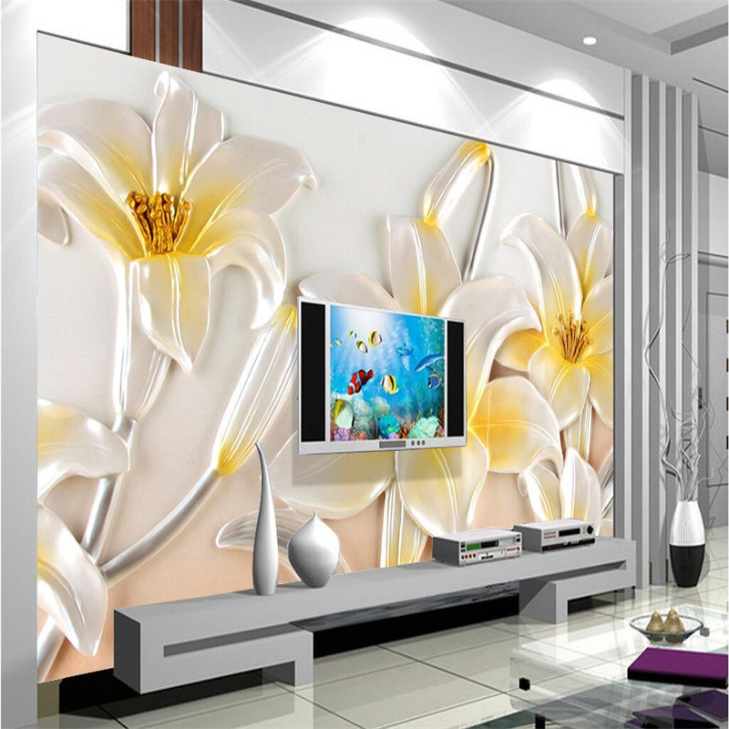 Beibehang Custom Mural Living Room HD Rescue Lotus Murales De Pared Hotel Bedroom Modern Home Decor Adhesive Paper For Furniture