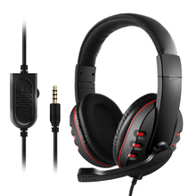 Bass Gaming Headset 3.5mm Wired HeadPhones with Microphone For PC Laptop PS4 Smart Phone Music Game Earphone Hot Sale