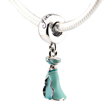Vestido de Perlas de jazmín Moda Disny Encantos Ajuste Pan Original Pulsera de Plata 925 NUEVA DIY Fabricación de La Joyería para Las Mujeres de Primavera regalo