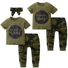 8dea7474b 2019 nuevo estilo bebé Niños Niñas Ropa conjunto de manga corta carta  impresión camisetas pantalones de · 2 colores disponibles