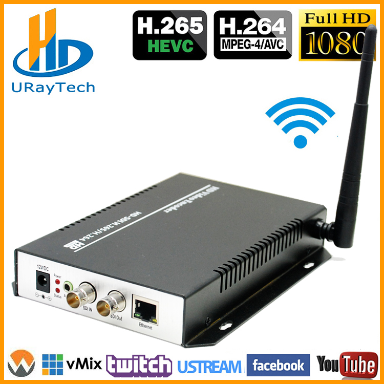 URay H.265 H.264 SD HD 3G SDI Pentru streaming video IP Encoder wireless WIFI Encoder Suport HTTP RTSP RTMP UDP ONVIF