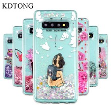 KDTONG Case sFor Samsung Galaxy S10E S10 Plus Glitter Liquid Soft Silicone Cover For A10 A20 A30 A40 A50 A70