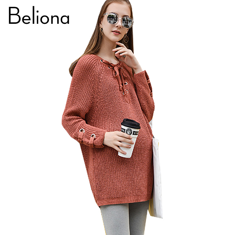 Fashion Maternity Sweater Loose Warm Maternity Clothes for Pregnant Women Long Sleeve Pregnancy Clothing 2017 Autumn Winter