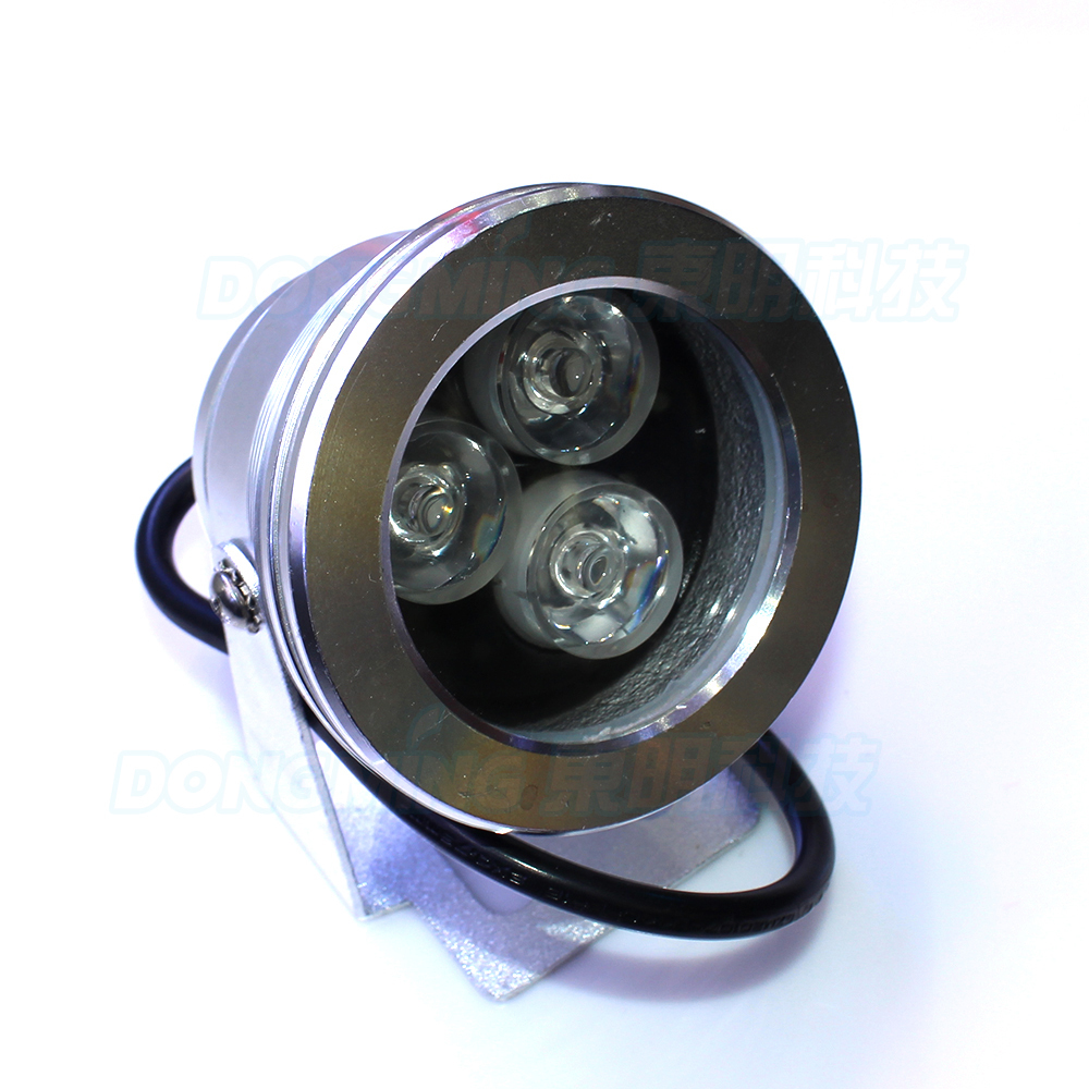 Silver Cover Underwater Led Lights Rgb DC 12V 3W Underwater Led Lamp Flat Lens Underwater Pool Lights+Built-in Controller