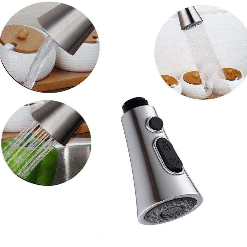 Kitchen Pull Out Faucet Sprayer Nozzle Water Saving Water Tap Faucet Filter Bathroom Basin Sink Shower