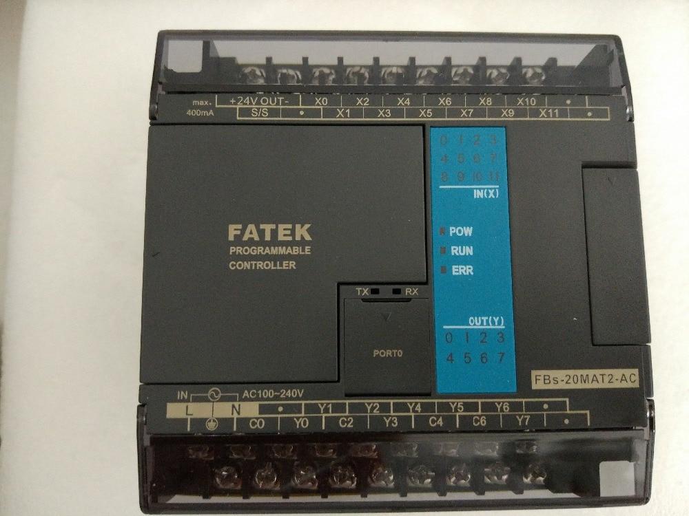 FBs-20MAT2-AC Fatek PLC AC220V 12 DI 8 DO transistor Main Unit New in box fbs 16xyr fatek plc 24vdc 8 di 8 do relay module new in box
