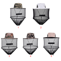 Portable Fishing Caps Mosquito Bee Insect Mesh Head Face Protect Fishing Hunting Hiking Walking Net Hat Mask Cap