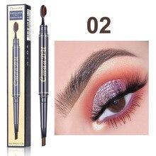 Professionla Eyebrow Pencil 2 in 1 Natural Long Lasting Make-up Eye Brow Pen And Brush Waterproof Black Brown Eyebrows Makeup