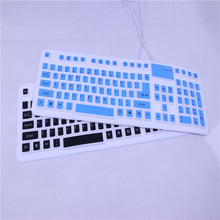Slim Folding Wired USB Flexible Silicone Soft Keyboard Roll-up Collapsible Teclado Clavier Gamer Mini PC Tablet Laptop Portable