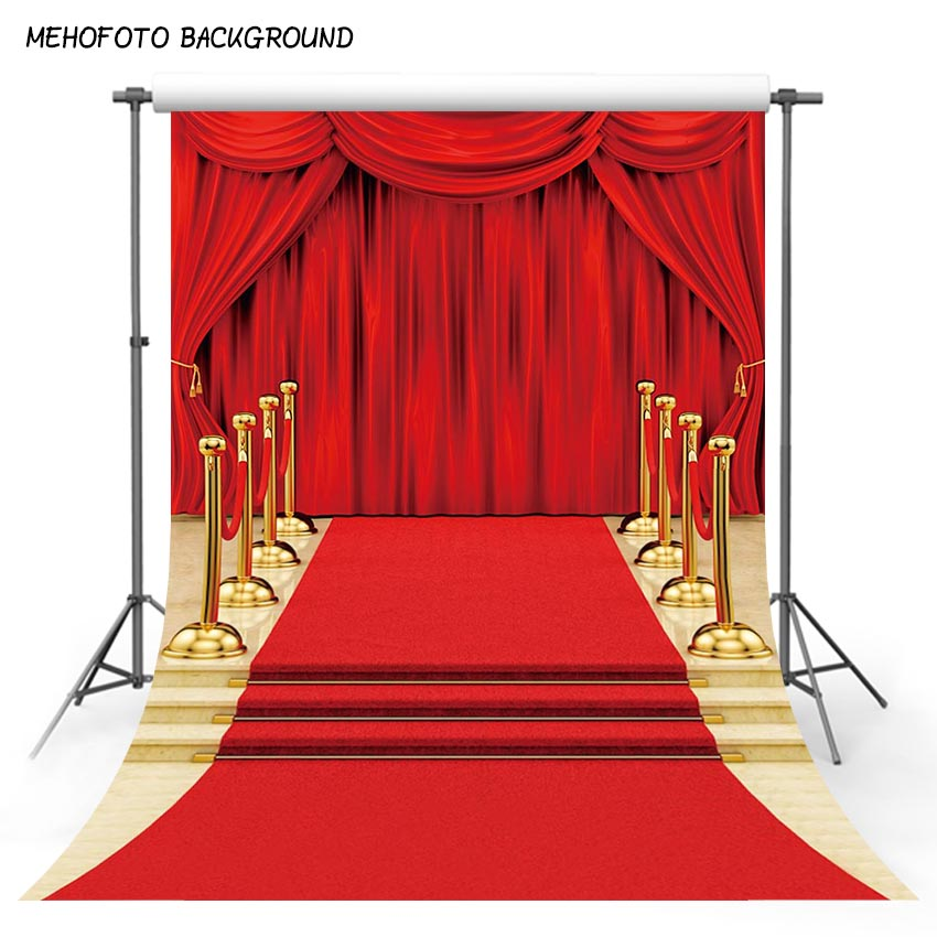 Mehofoto Vinyl Photographic Background Party Theme Red