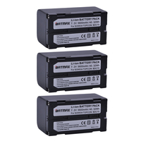 3Pcs 5600mAh BDC70 Li Ion Rechargeable Battery for SOKKIA / TOPCON BDC70 FOR Total Station / GPS Receivers
