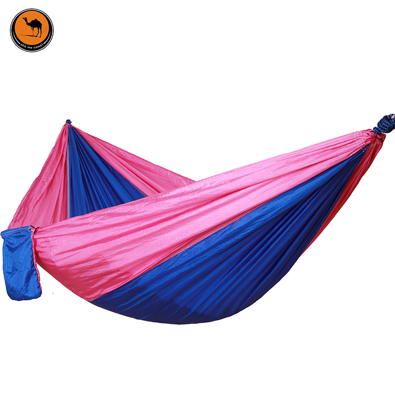 Double-person Item Hammock Camping Survival Parachute Cloth Portable Folding Person Hammocks 260*140 CM 300 200cm 2 people hammock 2018 camping survival garden hunting leisure travel double person portable parachute hammocks