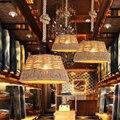 Лофт RH люстра из пеньковой веревки в стиле ретро Чистая ручная плетеная веревка Droplight потолочная лампа для кафе бара зала клуба магазина рес...