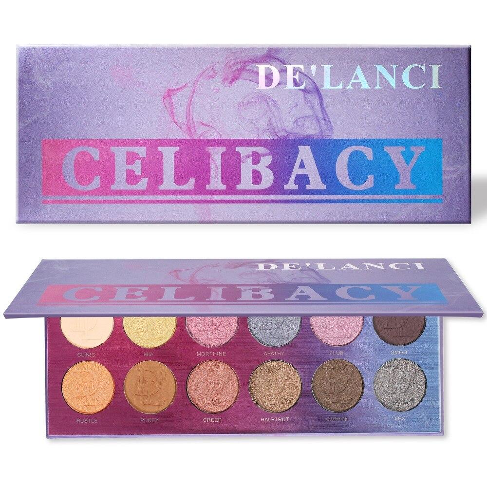 Delanlanci eyeshadow palete 12 cor nude fosco shimmer sombra de olho pigmento maquiagem paleta maquiagem profissional completa