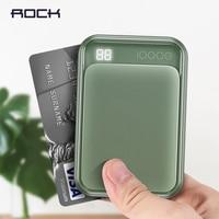 ROCK Mini LED Power Bank 10000mAh Dual USB For Xiaomi mi phone Portable External Battery Poverbank For iPhone Samsung Poverbank