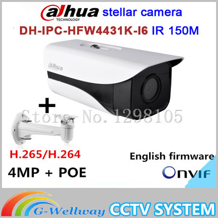 Original Dahua stellar camera 4MP DH-IPC-HFW4431K-I6 Network IP IR Bullet H265 H264 SD card slot IPC-HFW4431K-I6
