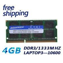 Brand New Sealed DDR3 1333/PC3 10600 4 GB Laptop Ram-speicher kompatibel mit allen motherboard/Freies Verschiffen!!!