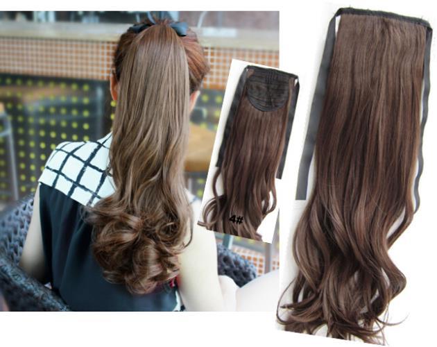 Haarlange zusammenbinden