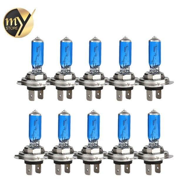 10 יחידות H7 100 w 12 v סופר מואר לבן ערפל אורות הלוגן הנורה גבוה כוח רכב פנסי מנורת רכב אור מקור חניה 6000 k