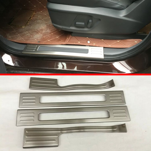 Stainless Steel door sill Protectors For Ford Everest 2016 2017 2018 & Stainless Steel door sill Protectors For Ford Everest 2016 2017 2018 ...