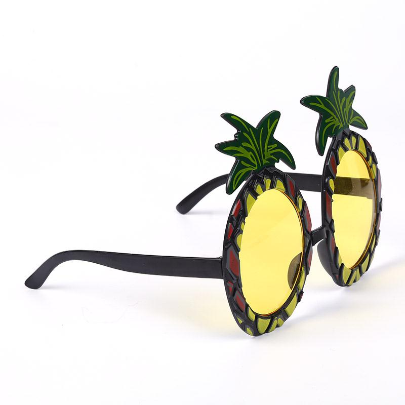 SOLEDI Fruit Shape Pineapple Glass Pool Party Birthday Holiday Supply Hawaiian Travel Sunglasses Wedding Party Decoration