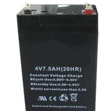 4V 7.5Ah свинцово-кислотный перезаряжаемый аккумулятор светодиодный аккумулятор vrla аккумулятор для хранения
