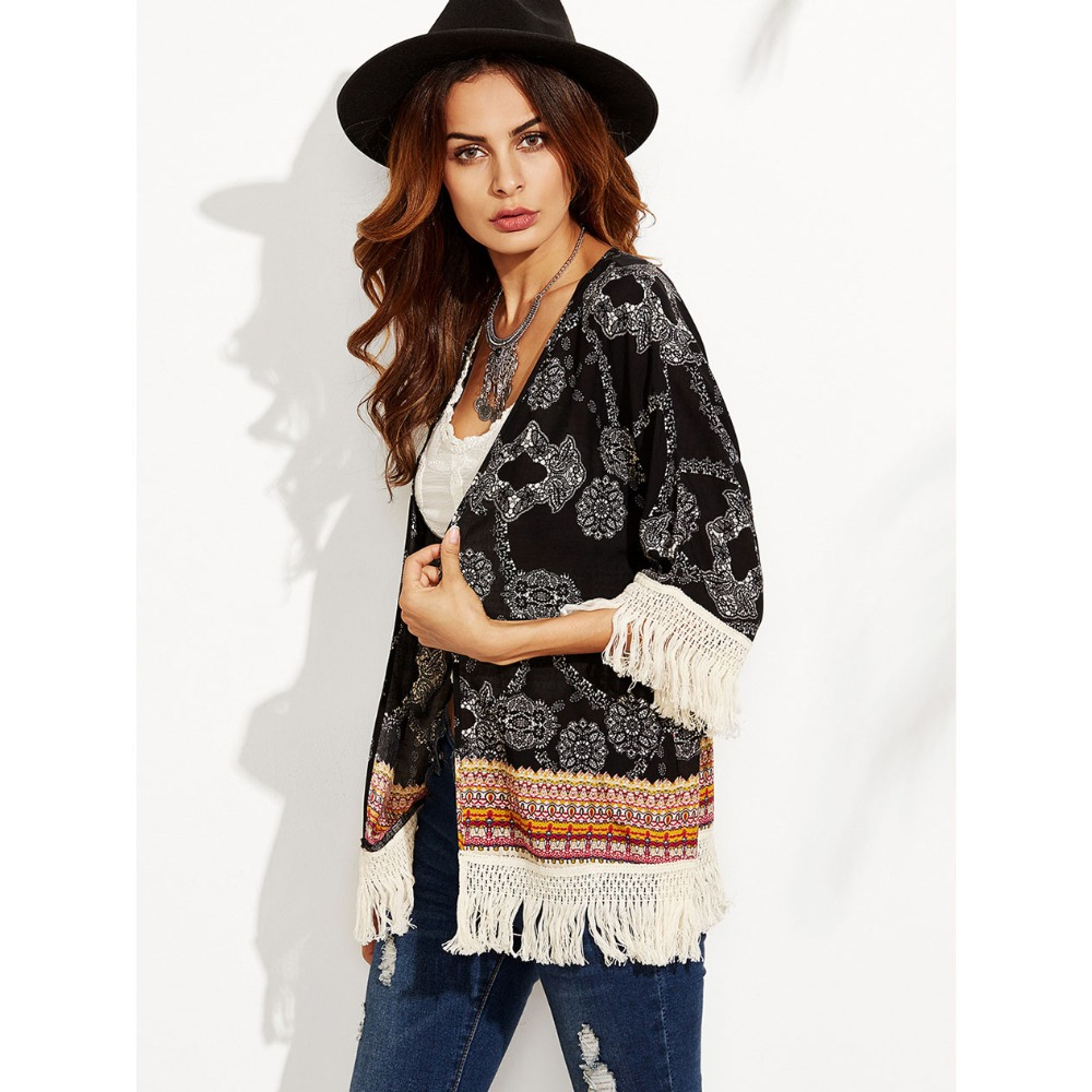 Bohemia Bathing suit cover ups Kaftan Beach 2019 Beach tunic Cover ups tassel Cover up Beach Dress Swimwear Sun Protect Dress in Cover Ups from Sports Entertainment