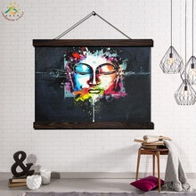 Color Paints Buddha Single Modern Wall Art Print Pop Picture And Poster Frame Hanging Scroll Canvas Painting Home Decor