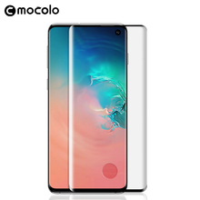 Mocolo 3D Curved Screen Fingerprint Unlock Glass for Samsung Galaxy S10 Tempered Film Cover Protector PLUS