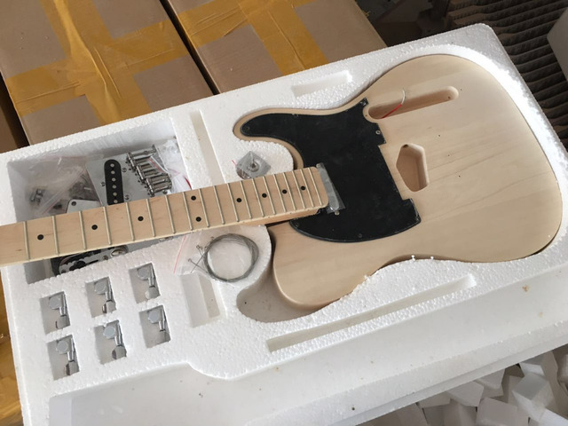 US $237 0 |Electric guitar body kit diy guitar with all hardware/Tele TL  Style Bubinga Guitar/elm wood body-in Guitar from Sports & Entertainment on