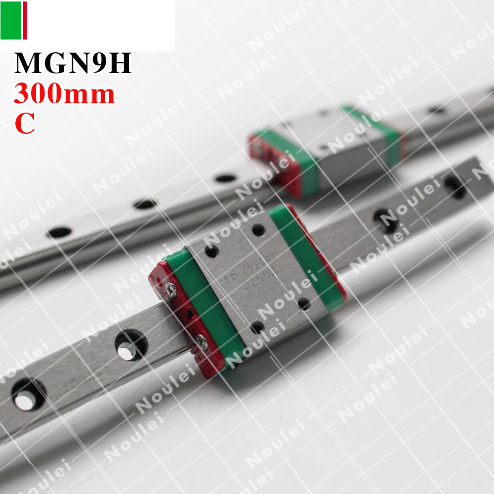 HIWIN MGN9 300mm linear guide rail with MGN9H slide blocks stainless steel MGN9mm kossel mini tbi cnc sets tbimotion tr20n 1000mm linear guide rail with trh20fl slide blocks stainless steel high efficiency