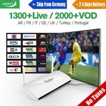 Canal Plus Французский IPTV Box 1 Год Подписки Iptv QHDTV Счета Leadcool Smart TV Set Top Box Германия Европа Арабский IPTV Поле
