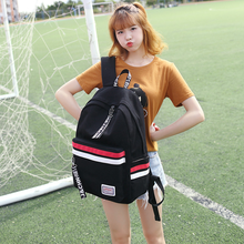 Backpack Korean Campus Student Bag Solid Color Large Capacity Travel New Hot Sale