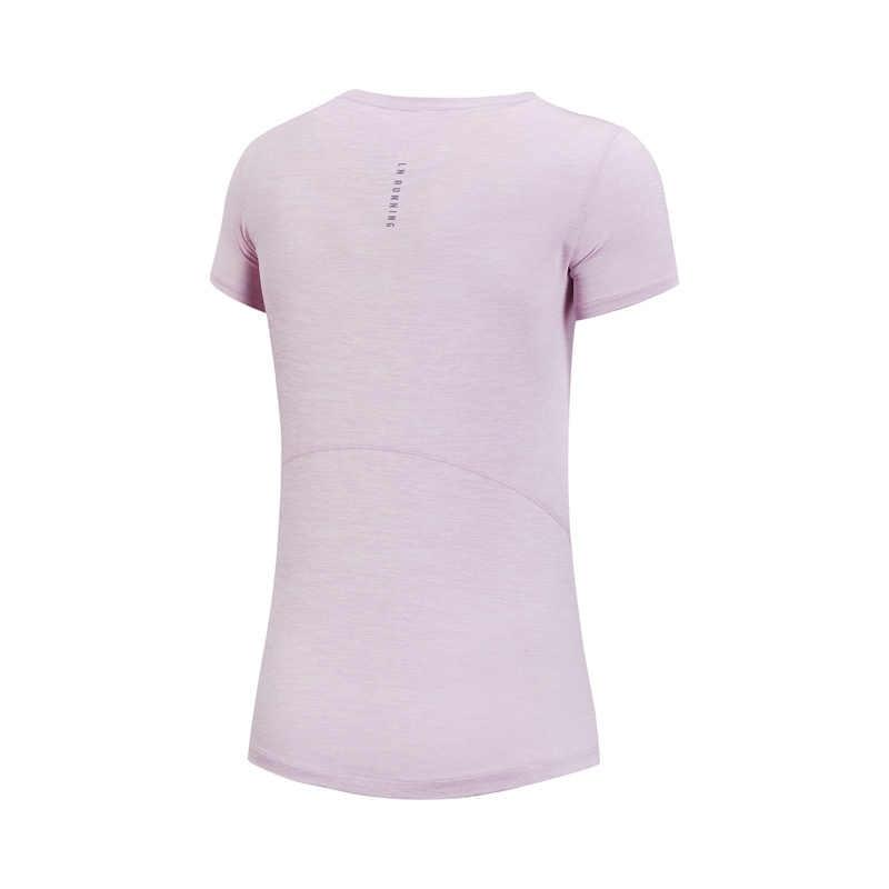 (Break Code) li-Ning Vrouwen Running T-shirts Jogging Op Droog 100% Polyester Comfort Li Ning Voering Sport Tee Tops ATSN152 WTS1433