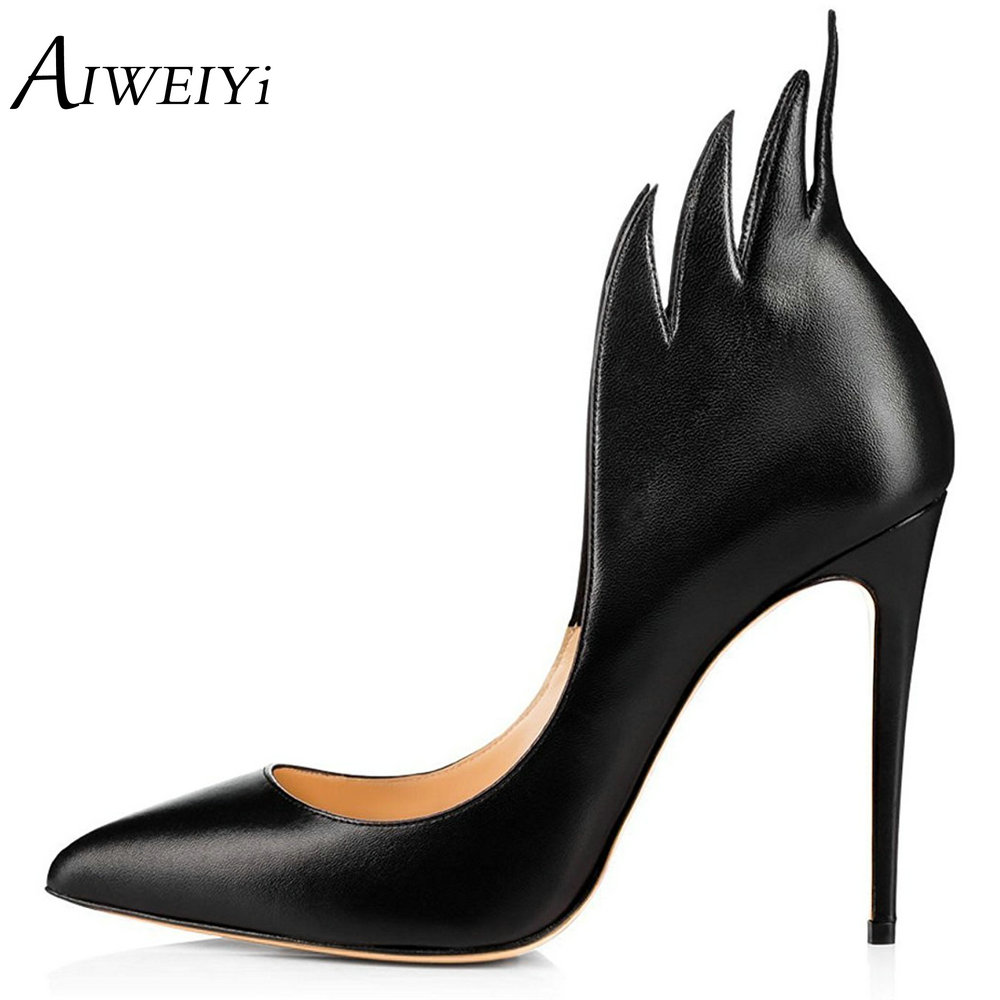 AIWEIYi Brand Designer Slip on Women High Heels Pumps Elegant Thin Heel Women's Pumps Pointed Toe Ladies Wedding Party Shoe