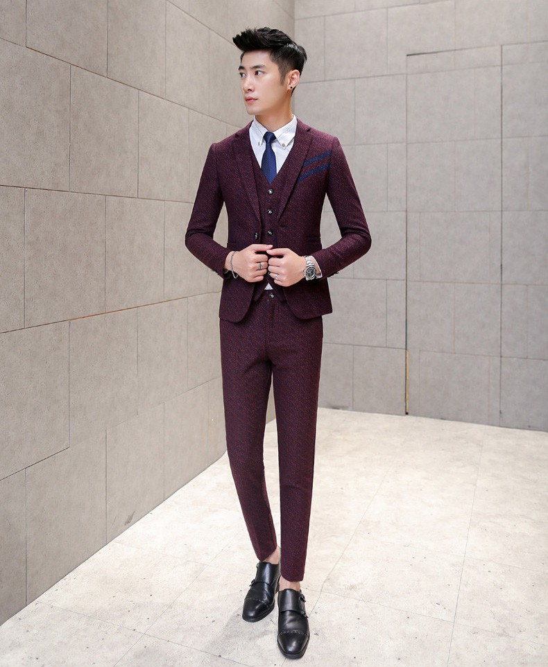 wine red suits