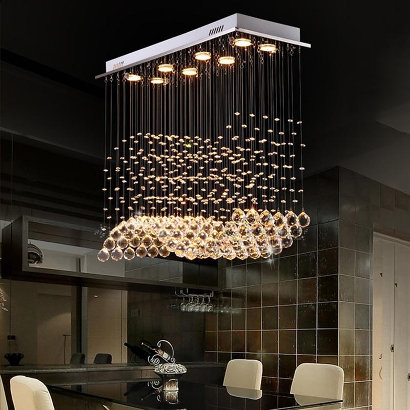Modern Luxury LED K9 Crystal Chandeliers lights Restaurants Wave Crystal Chandeliers Lamp Creative Living Room Lighting-in Chandeliers from Lights & Lighting    1