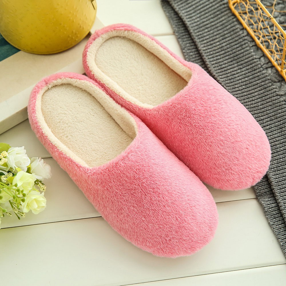2018 Men Winter Men Warm Home Slippers Mens Fashion Plush Cotton Warm Slippers Indoor House Soft Slippers Zapatos Hombre  Nov23