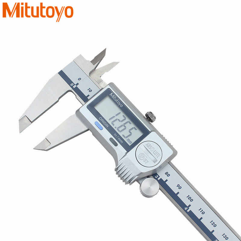 Mitutoyo 500-702/703/704/752/753/754-20 Digital Vernier Caliper 150 /200/300 Mm/0.01 Mm IP67 Tahan Air Elektronik Micrometer Gauge