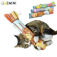 купить 2019 Creative Pet Cat Kitten Chewing Cat Toys Catnip Stuffed Fish Interactive Kitten Product cat toy catnip дешево