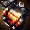 New men coat Space/galaxy 3d sweatshirt men 3d hoodies fashion harajuku style funny print nightfall trees