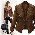PU Tamaño Grande Jeans Jacket Women Básica Abrigos Chaquetas Mujer Bolero Mujeres Abrigos Plus Jaqueta Feminina Veste Casacos Chaqueta de Bombardero