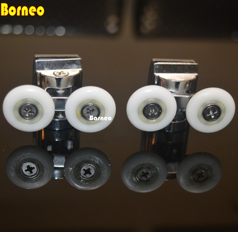Shower Door Wheels 25mm Shower Door Rollers 4pcs (2 top+2 buttom)Shower Room Accessories glass8-10mm