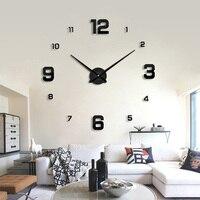 2019 современные дизайнерские кварцевые часы модные часы Зеркальные Стикеры diy Декор для гостиной Новое поступление 3d настоящие большие наст...