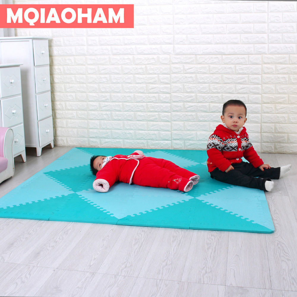 MQIAOHAM Puzzle Carpet Baby Play Mat Floor Developing Crawling Rugs Puzzle Mat EVA Children's Foam Carpet Mosaic floor green конверт детский womar womar конверт зимний black frost гранатовый