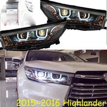 HID,2015 ~ 2017,รถจัดแต่งทรงผมสำหรับ Highlander ไฟหน้า,vios,corolla,camry,Hiace, sienna,yaris,Tacoma,Highlander หัวโคมไฟ
