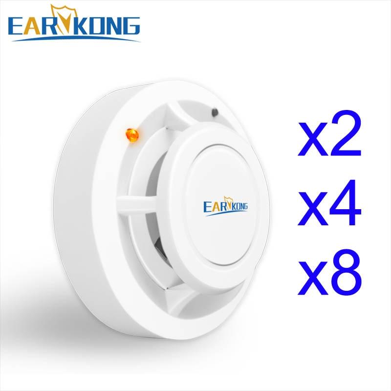 2262 Code 433MHz Wireless Smoke Detector For Home Burglar Alarm System Sensor Alarm