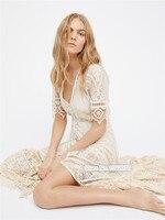 Для женщин кнопку Подпушка спереди vintagesque Кружево Рианнон платье в черный и белый Цвет элегантный Кружево Макси платье