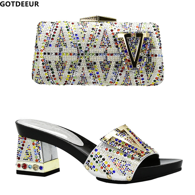 New African Matching Shoes and Bag Italian In Women Shoe and Bag Set for Party In Women Nigerian Women Wedding Shoes Bag Sets