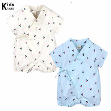 Child Rompers 2018 Quick Sleeve Cotton Overalls New child Garments Roupas de Bebe Boys Ladies Jumpsuit Clothes for Summer time